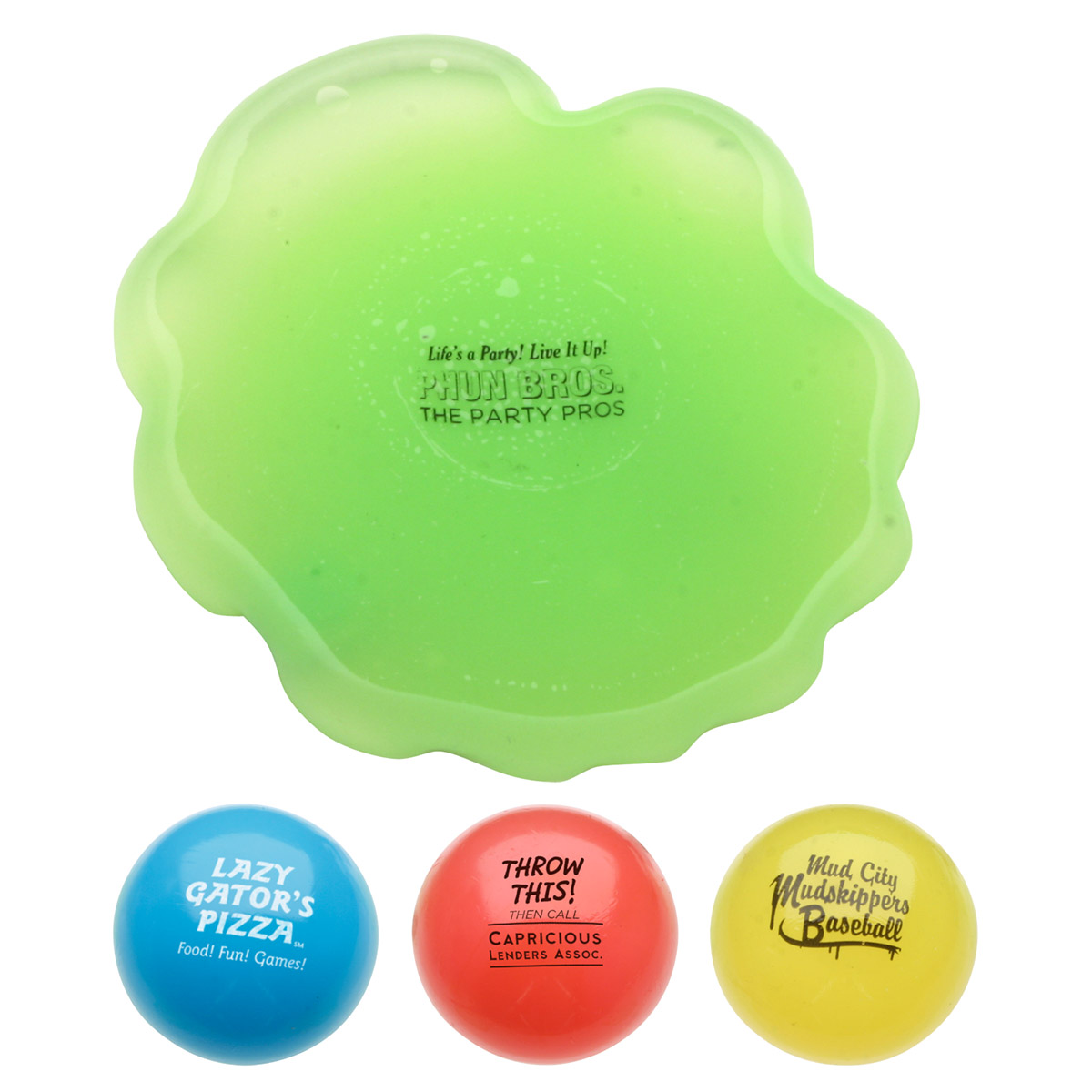 Toss N' Splat Amoeba Ball, LGB-AB09, 1 Colour Imprint