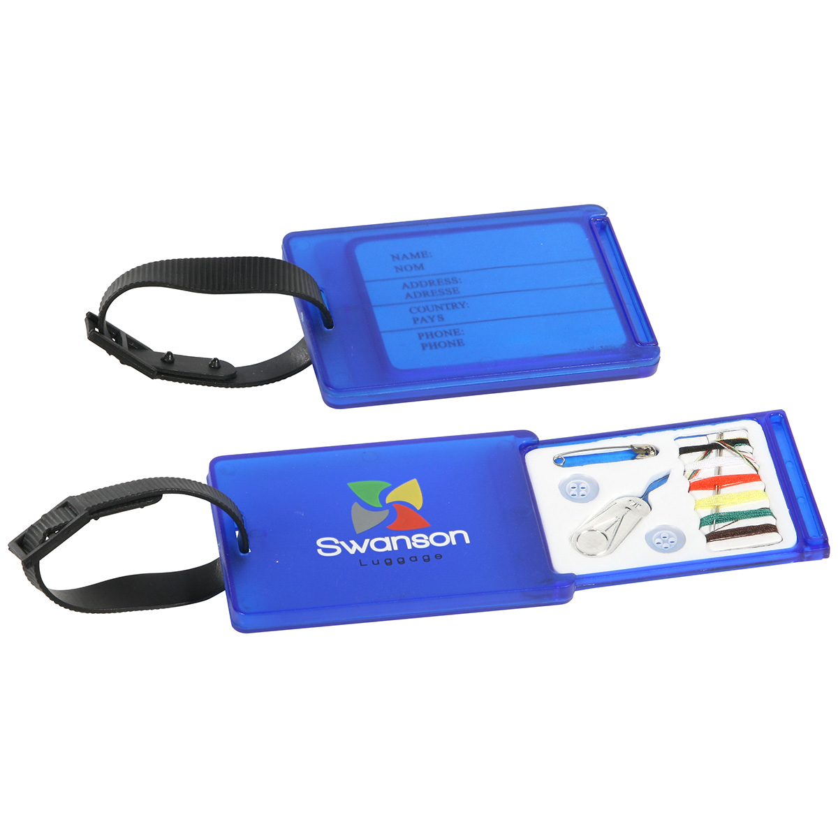 Travel Aid Luggage Tag & Sewing Kit, WTV-LS10, 1 Colour Imprint