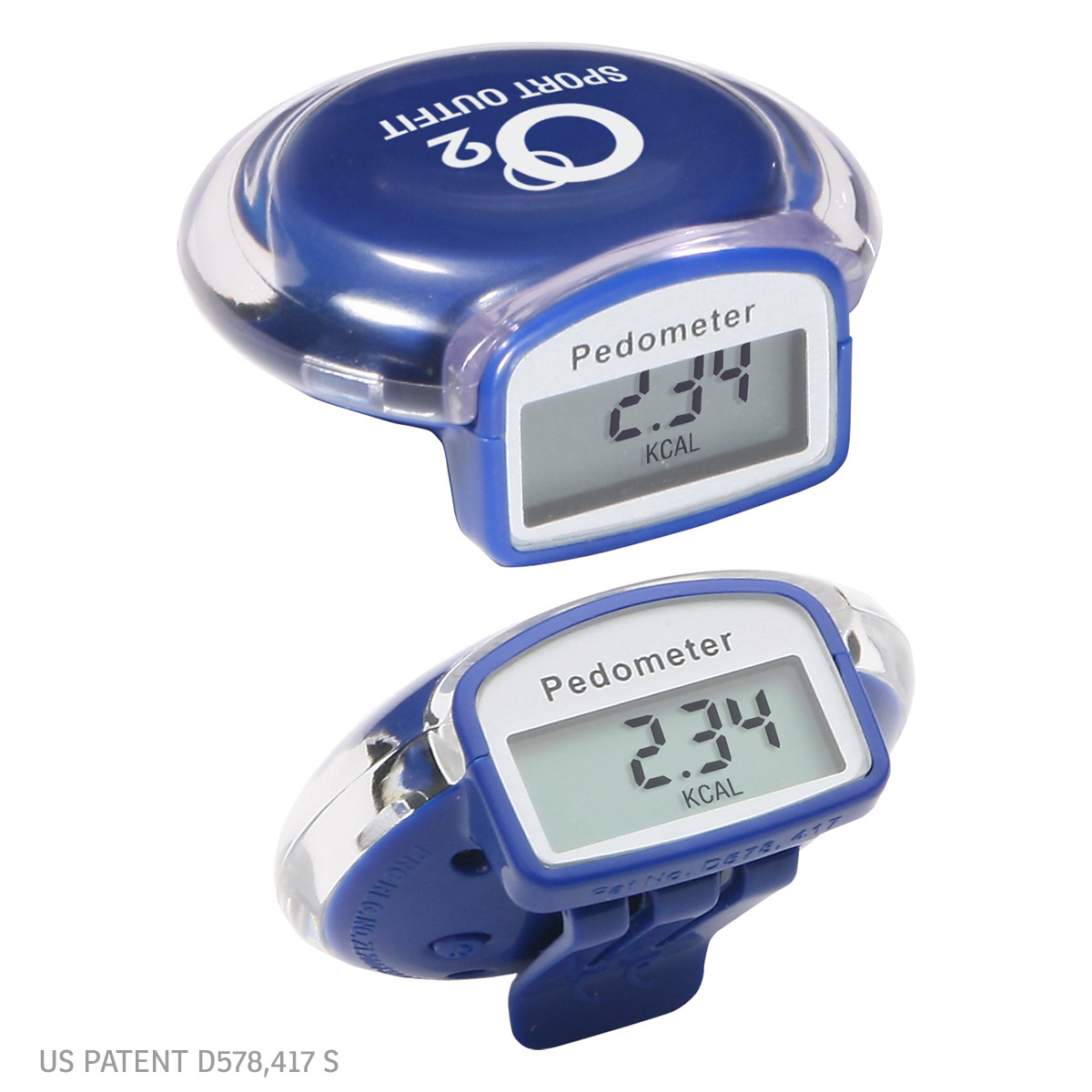 Round Step Pedometer, WHF-RS11, 1 Colour Imprint
