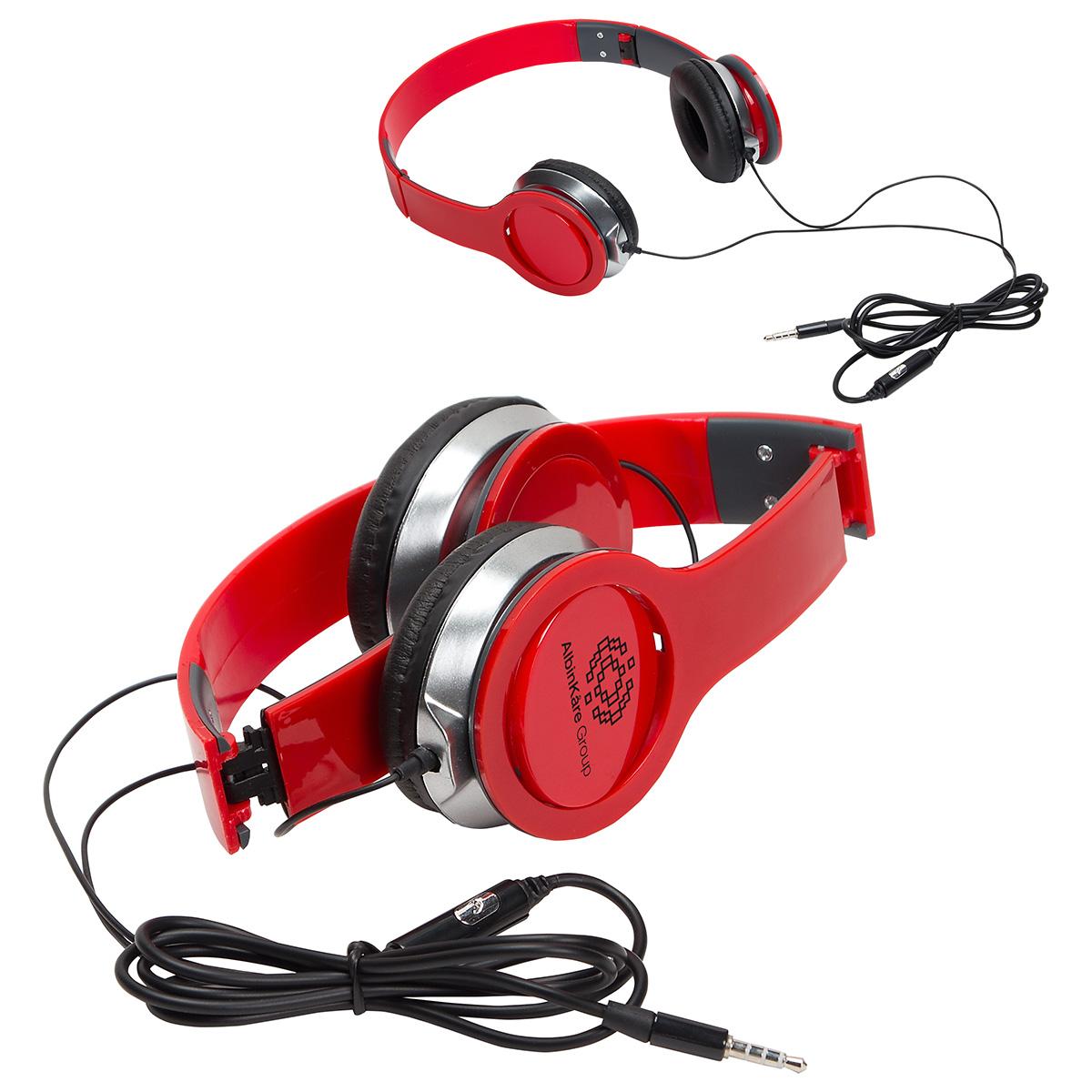 Moji Foldable Headphones with Mic, WTV-MF16 - 1 Colour Imprint