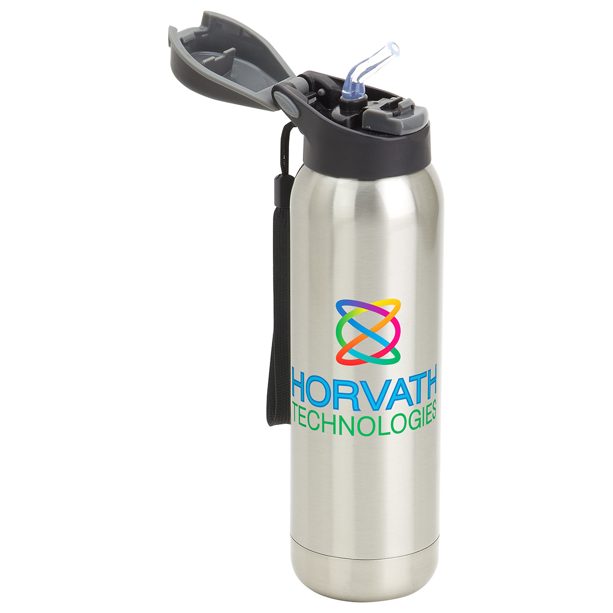 Stratford 17 oz Pop-Top Vacuum Insulated Stainless Steel Bottle, DBT-ST17, 1 Colour Imprint