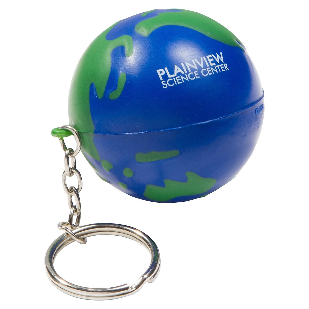 Earthball Stress Reliever Key Chain, LKC-EB01, 1 Colour Imprint