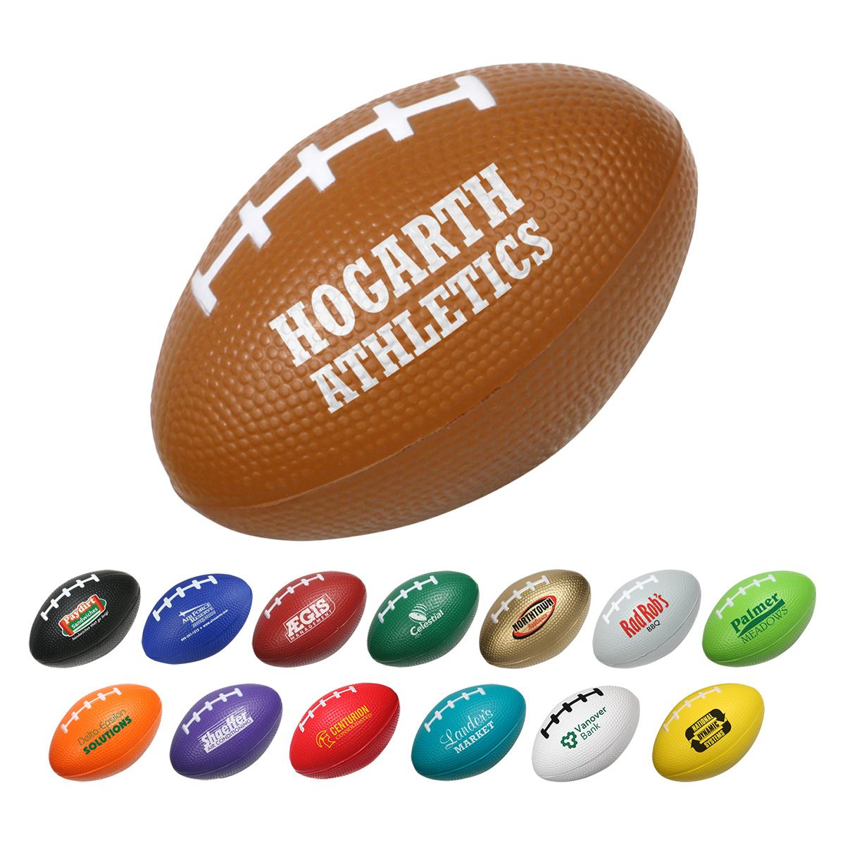 Small Football Stress Reliever, LSP-FB03 - 1 Colour Imprint