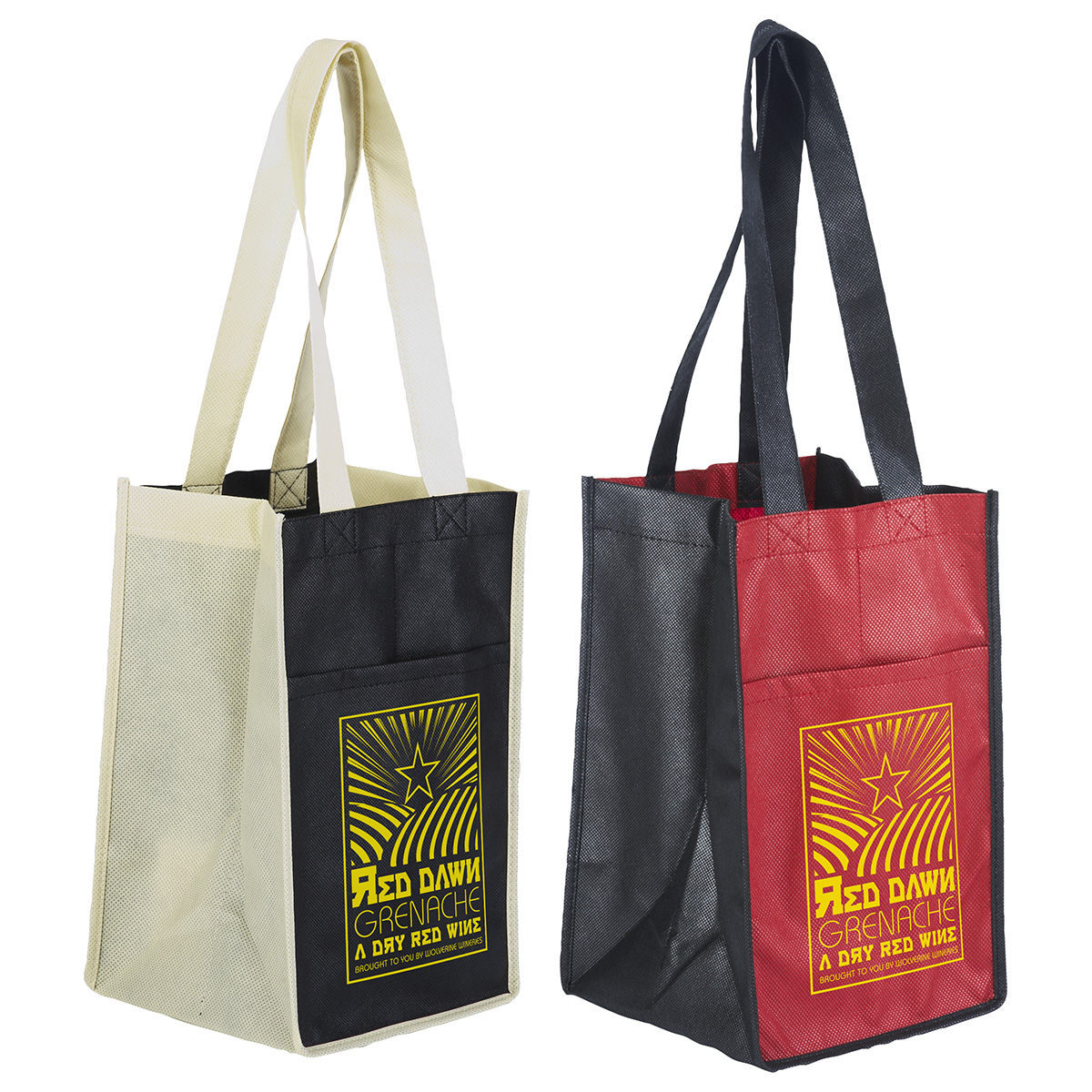 Sun Shower 4-Bottle Wine Bag, WBA-BB10 - 1 Colour Imprint