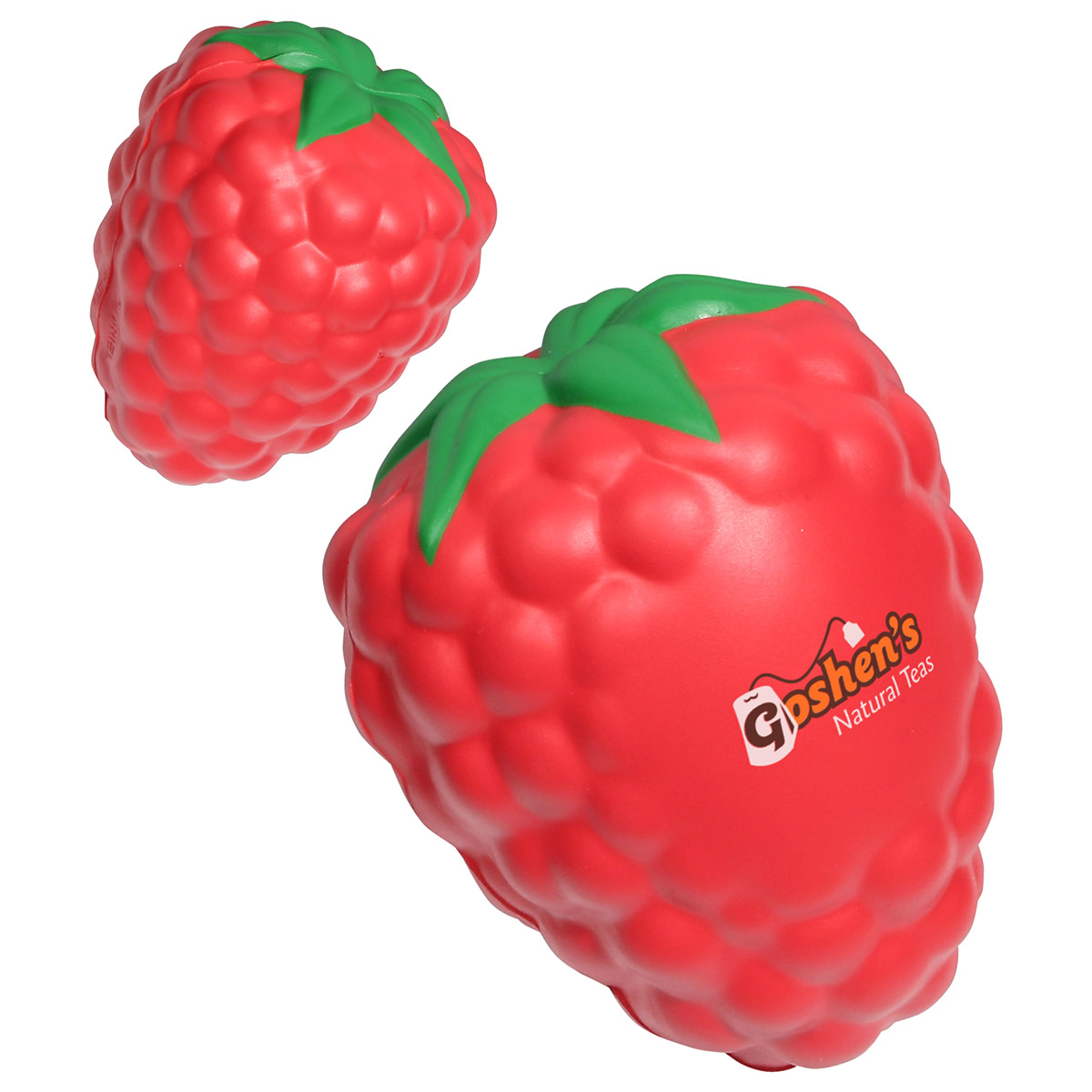 Raspberry w/ Leaf Stress Reliever, LFR-RB10 - 1 Colour Imprint