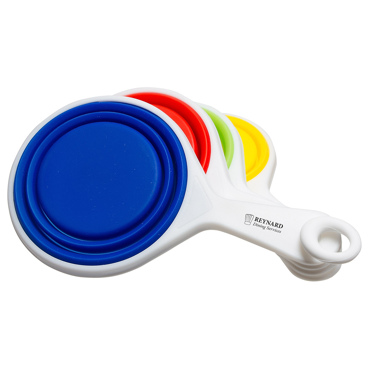 Pop Out Silicone Measuring Cups, WKA-MC15 - 1 Colour Imprint
