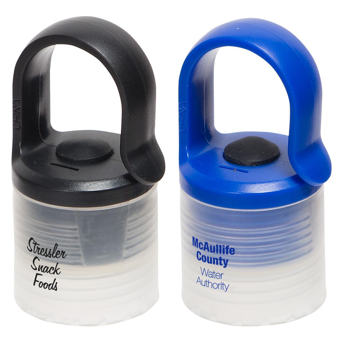 Glow Light Bottle Cap with Clip, WLT-GB17, 1 Colour Imprint