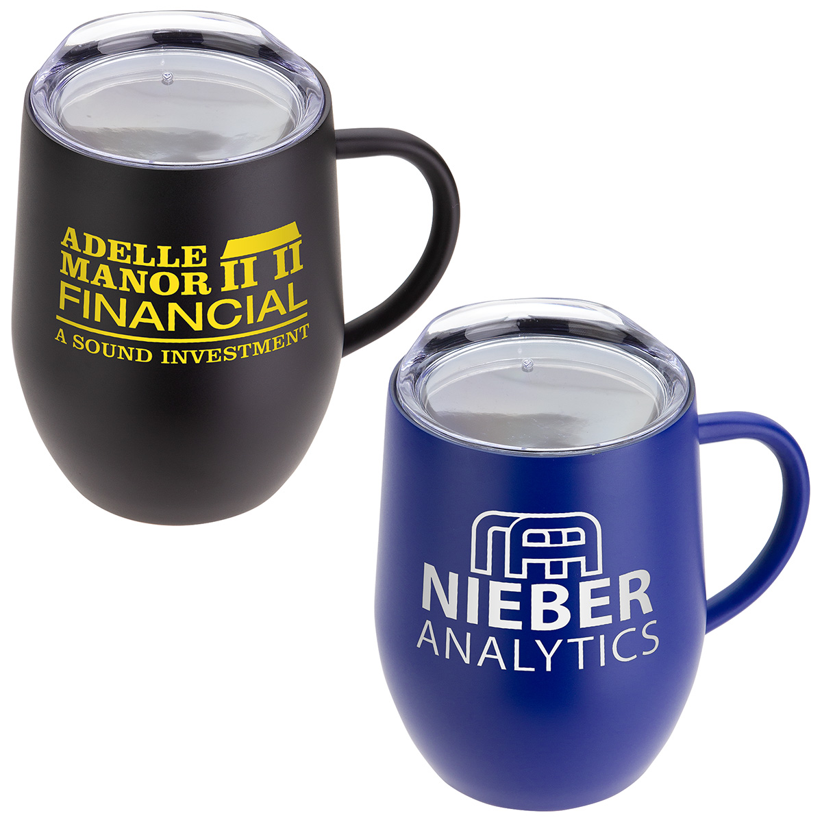 Calibre 12 oz Vacuum Insulated Ceramic Inside-Coated Coffee Mug, DTM-CL19, 1 Colour Imprint
