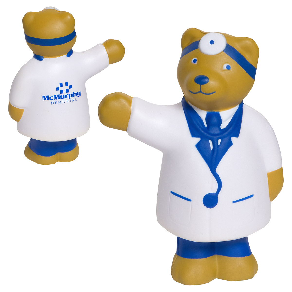 Doctor Bear Stress Reliever, LAN-DB01 - 1 Colour Imprint