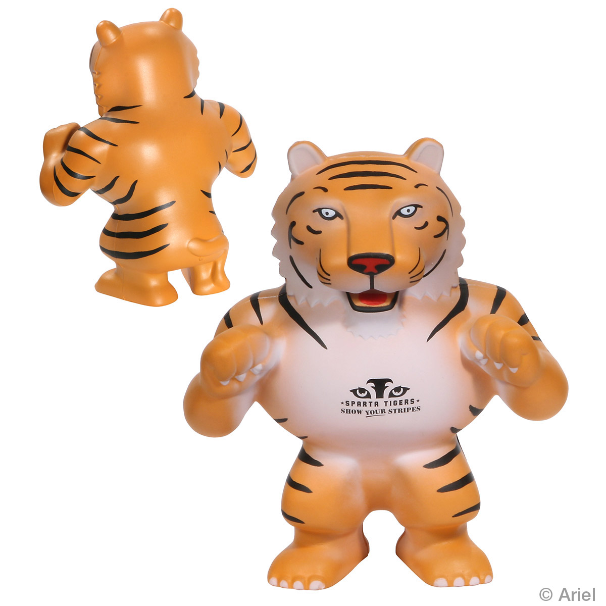 Tiger Mascot Stress Reliever, LMT-GR09 - 1 Colour Imprint