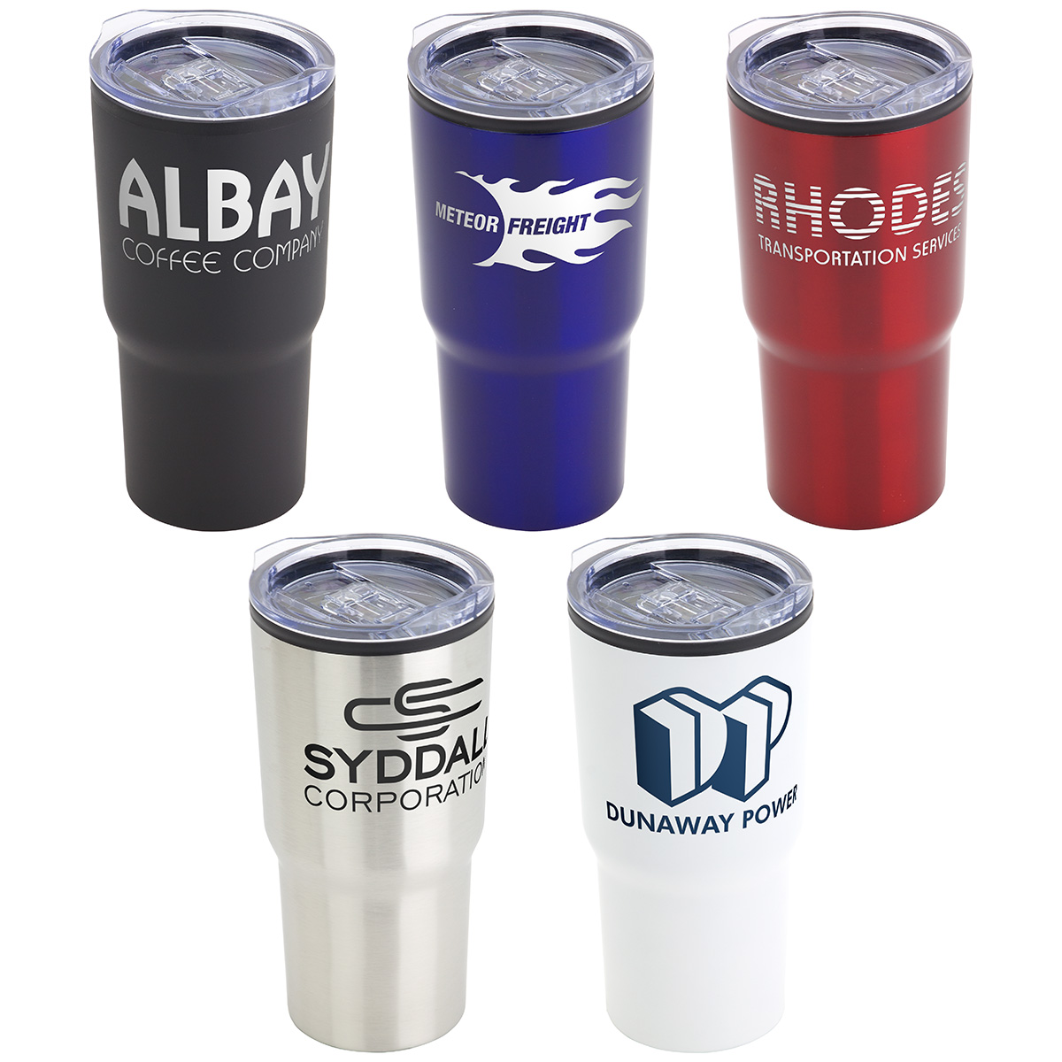 Odyssey 20 oz. Stainless Steel/Polypropylene Travel Tumbler, DTM-OD18 - 1 Colour Imprint