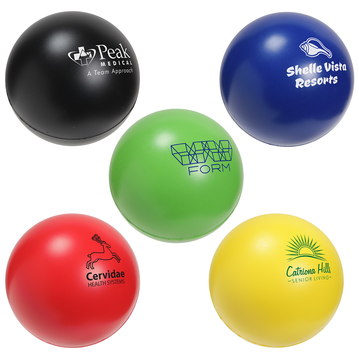 Round Slo-Release Serenity Squishy(TM), LSB-RS18, 1 Colour Imprint