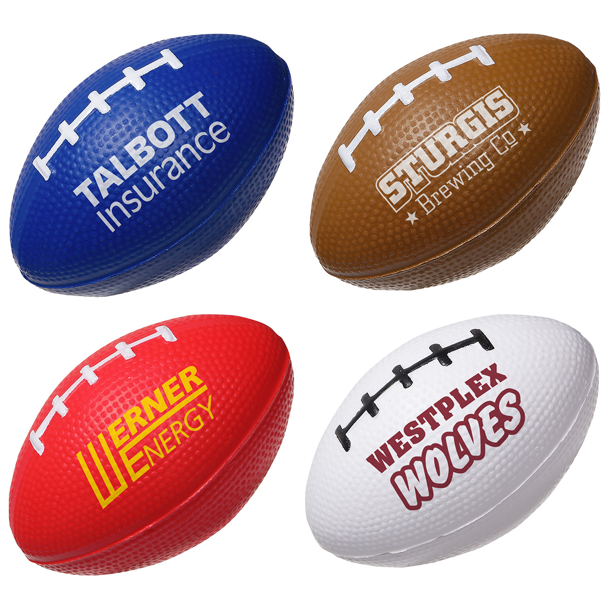 Football Slo-Release Serenity Squishy, LSP-FS19, 1 Colour Imprint
