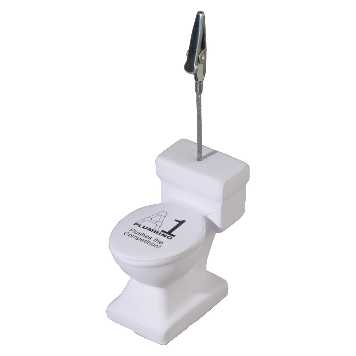 Toilet Stress Reliever Memo Holder, LMH-TL06, 1 Colour Imprint