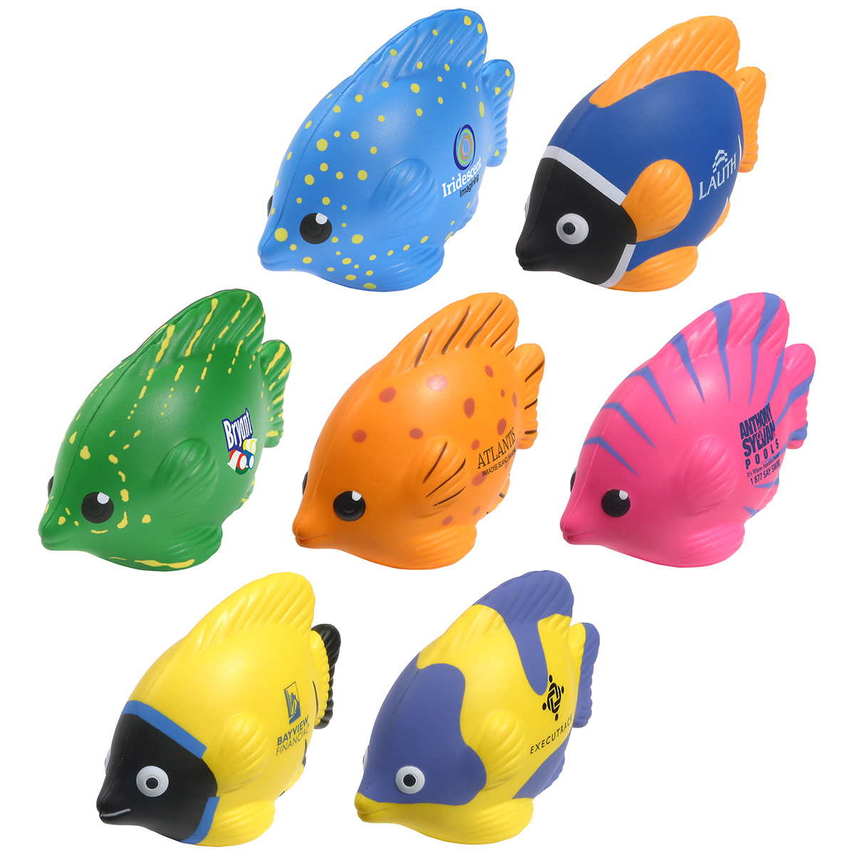 Tropical Fish Stress Reliever, LAA-TF09, 1 Colour Imprint