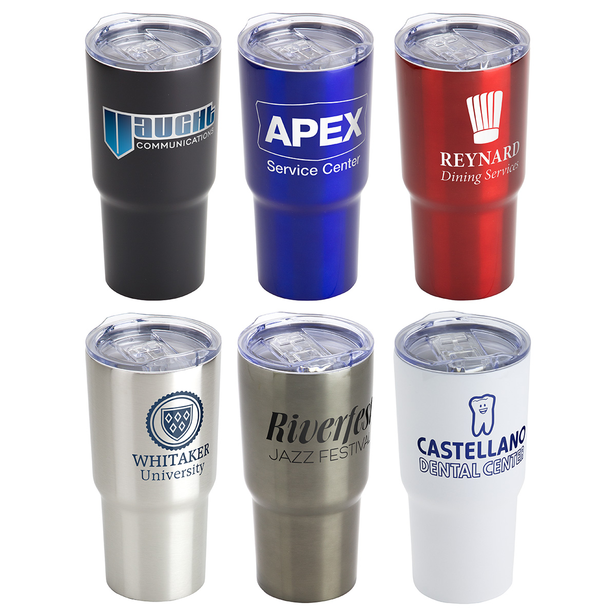 Belmont 20 oz Vacuum Insulated Stainless Steel Travel Tumbler, DTM-BE16, 1 Colour Imprint