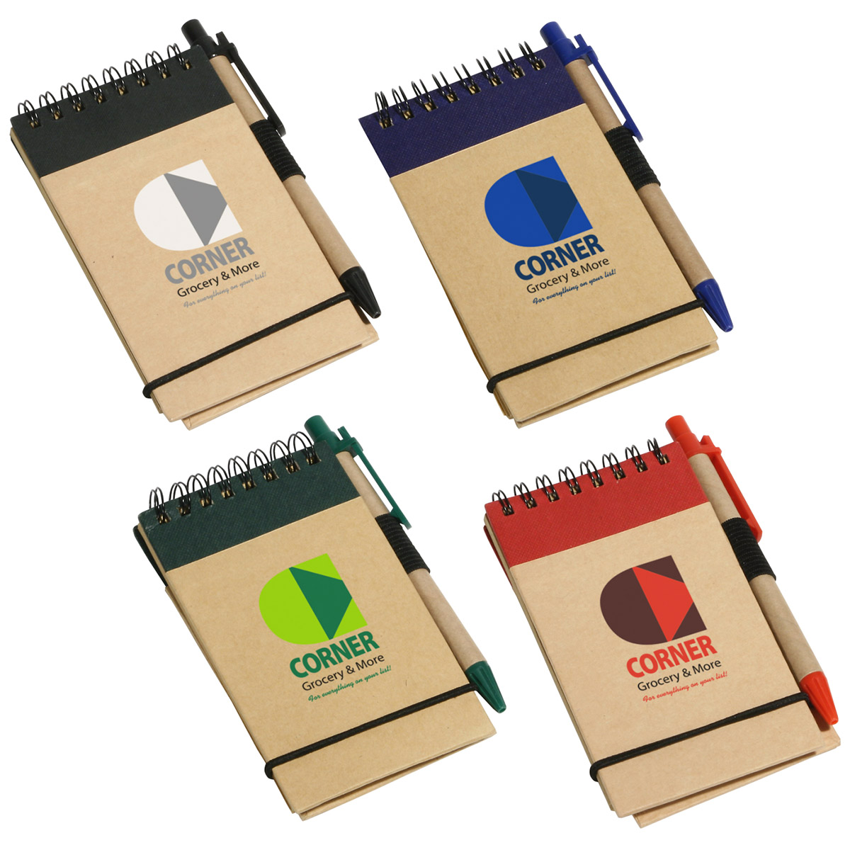 Think Green Recycled Notepad & Pen, WOF-TG10, 1 Colour Imprint