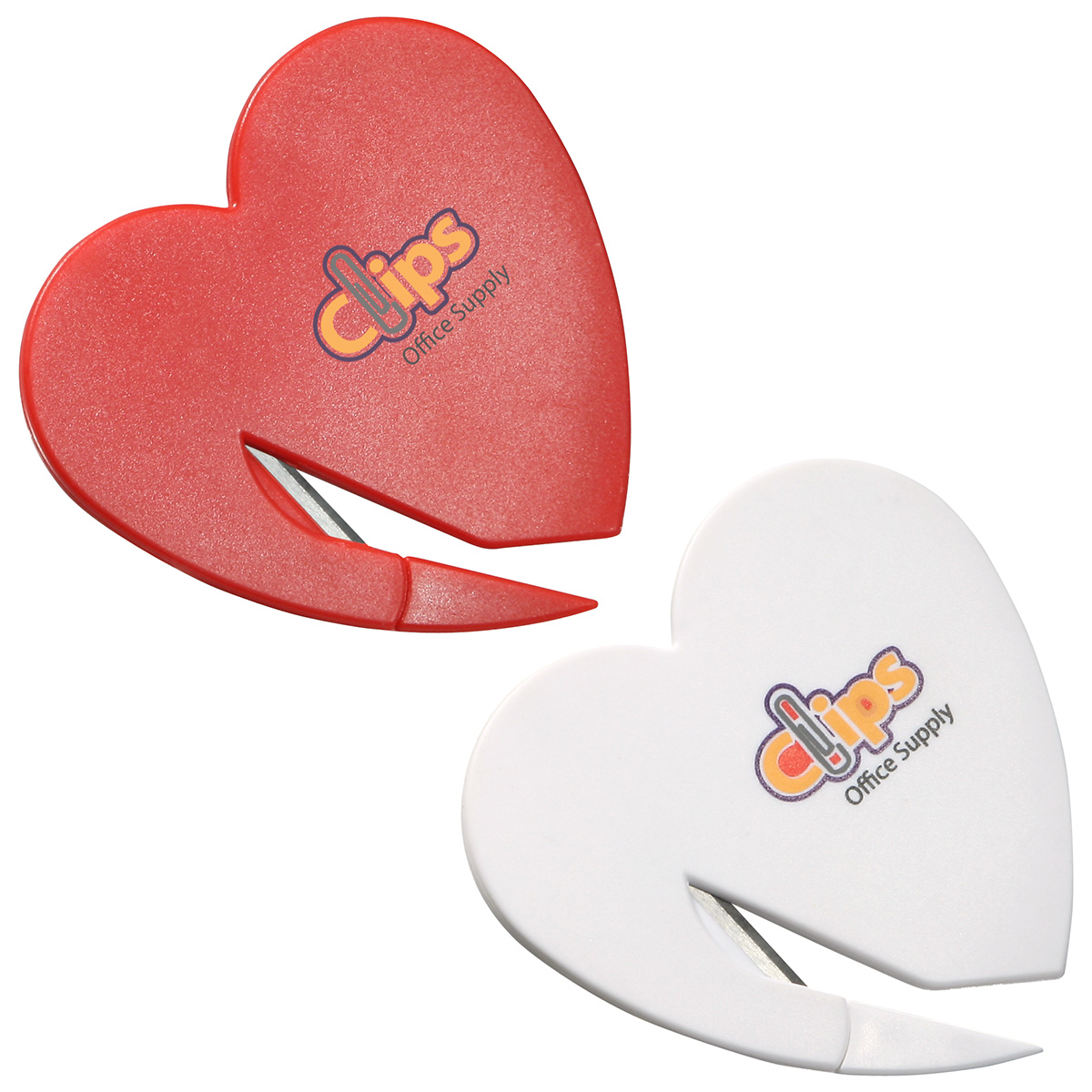 Heart Letter Opener, WOF-HL10 - 1 Colour Imprint