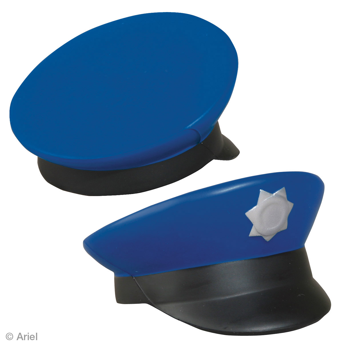 Police Cap Stress Reliever, LCC-PL01, 1 Colour Imprint