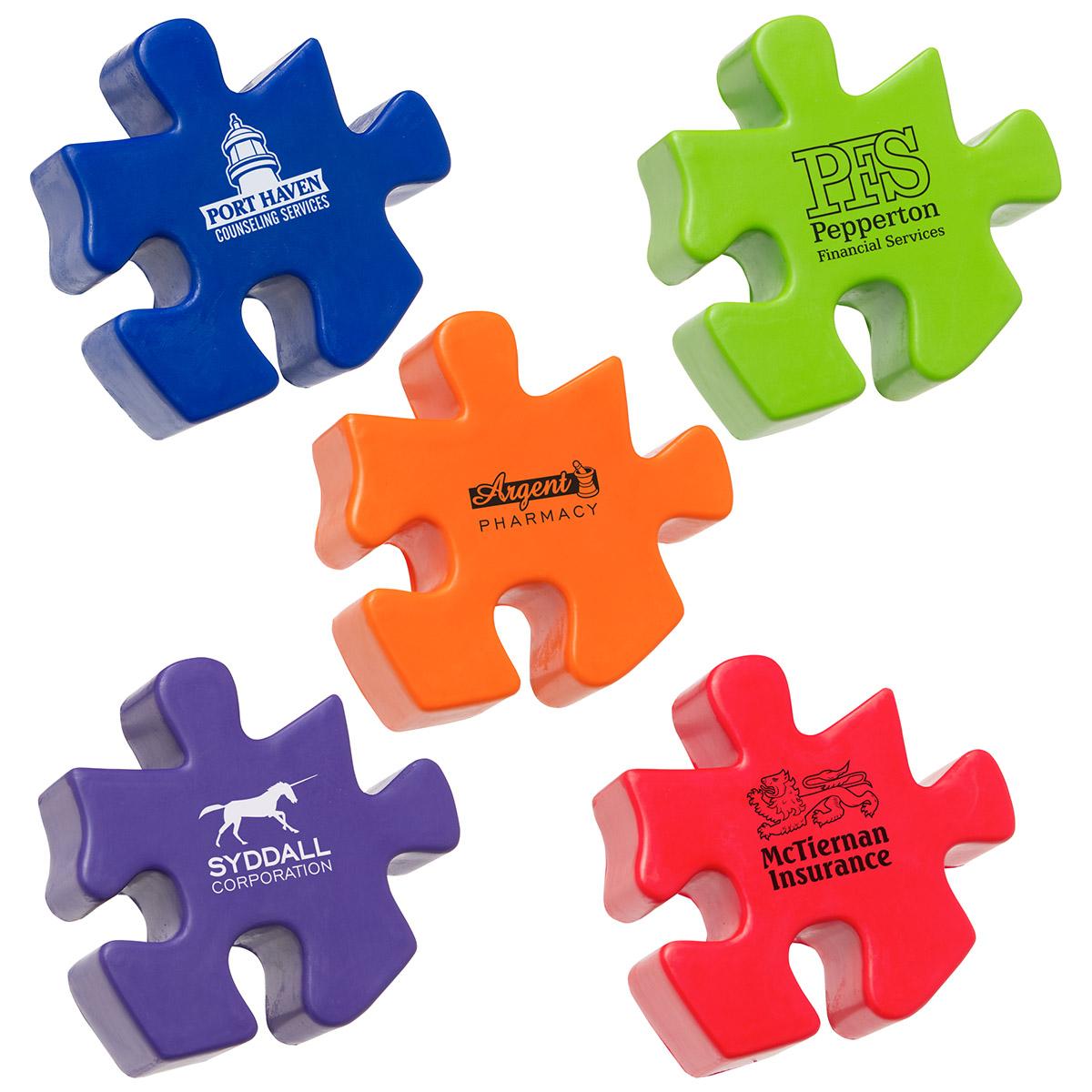 Puzzle Piece Stress Reliever, LGS-PZ01, 1 Colour Imprint