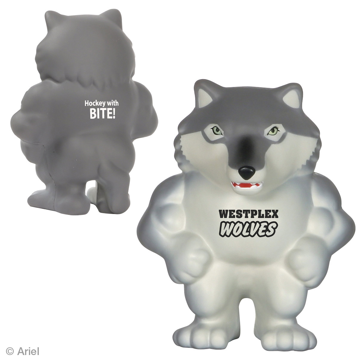 Wolf Mascot Stress Reliever, LMT-WL07 - 1 Colour Imprint