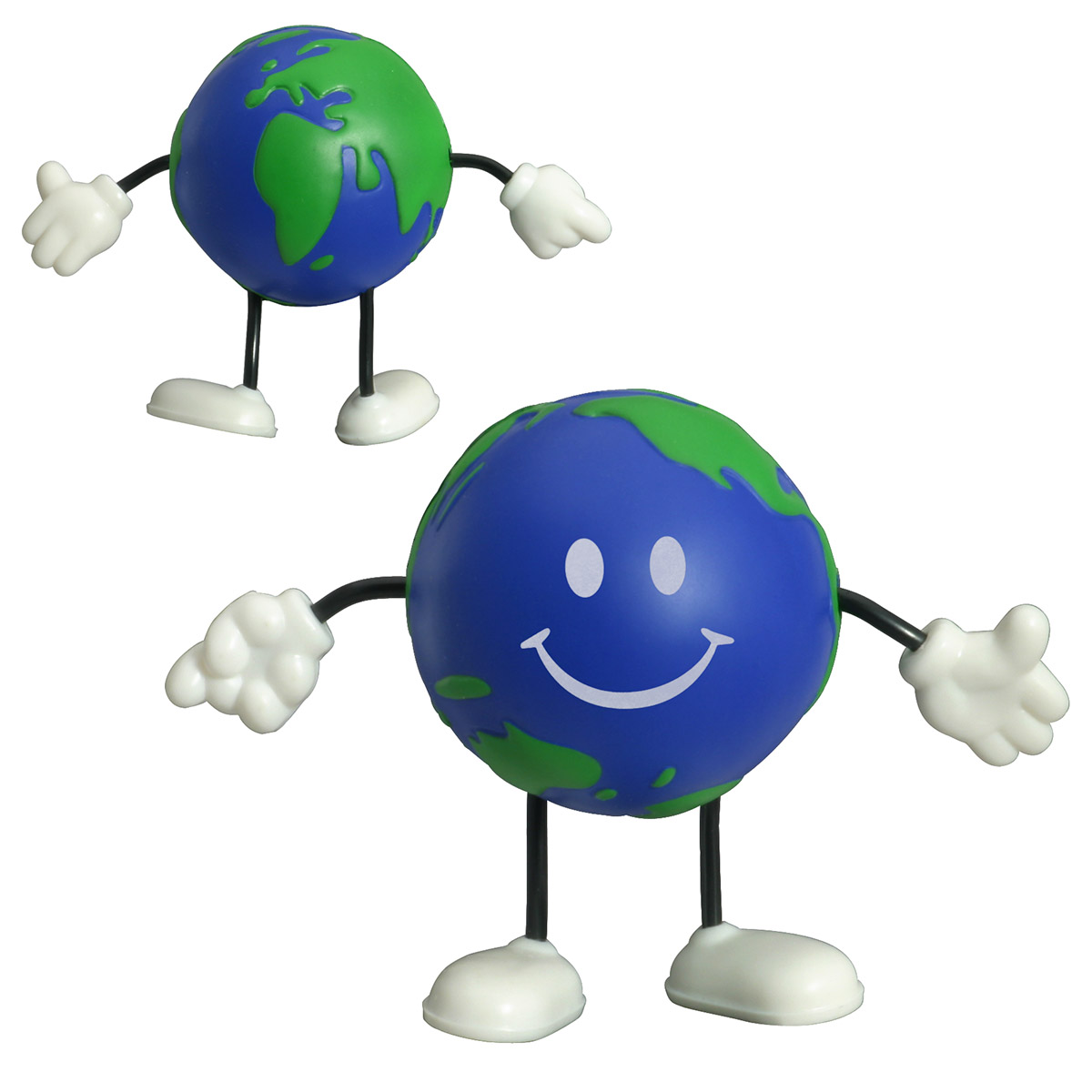Earth Ball Figure Stress Reliever, LCH-EB01 - 1 Colour Imprint