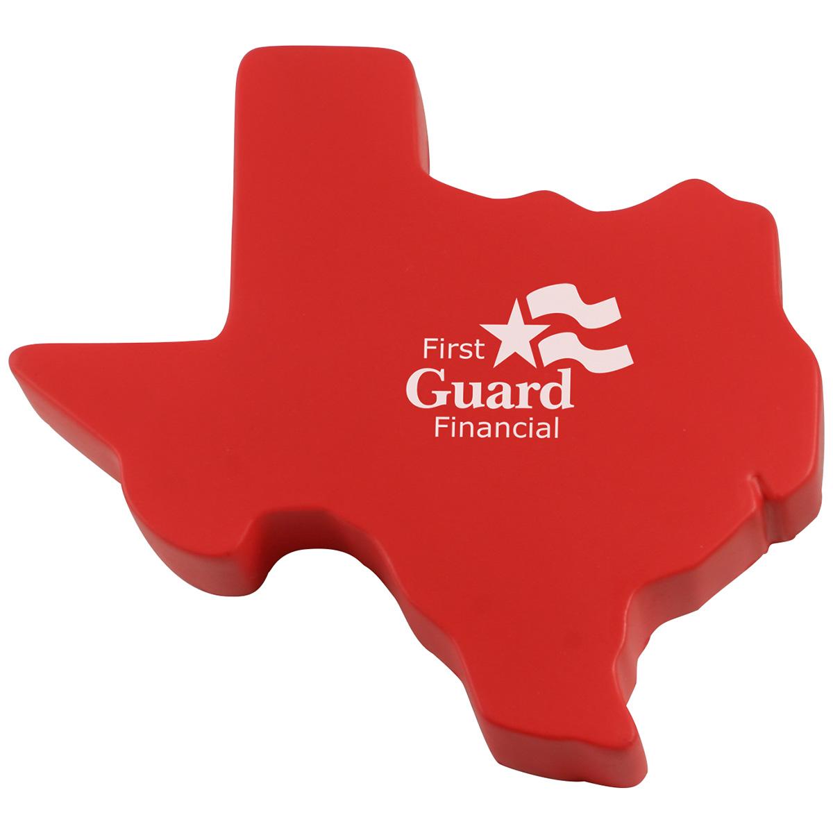 Texas Shape Stress Reliever, LTV-TX22 - 1 Colour Imprint