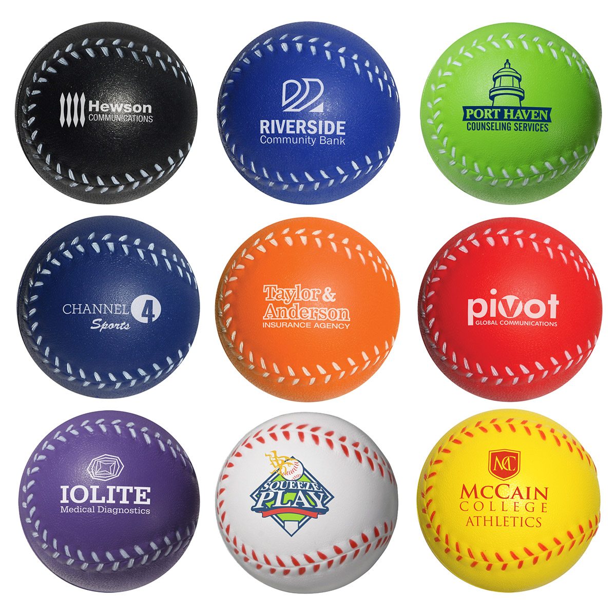 Baseball Stress Reliever, LSP-BA01 - 1 Colour Imprint