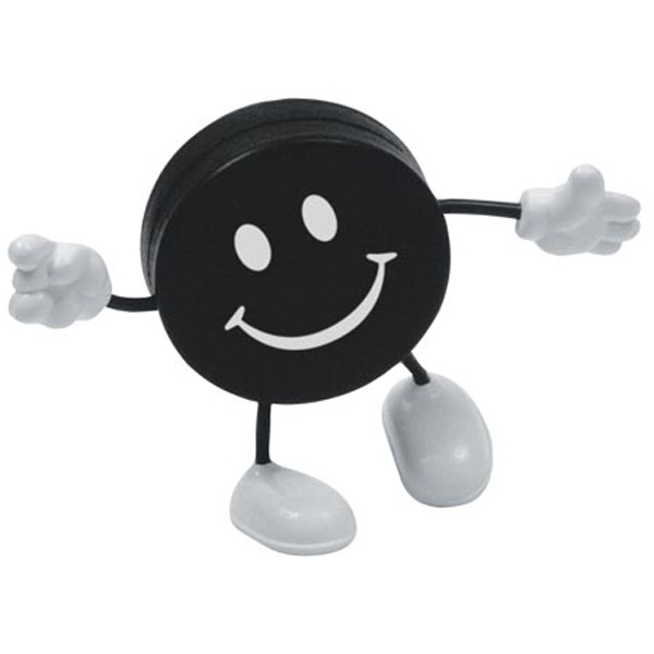 Hockey Puck Stress Reliever Figure, LCH-HK05 - 1 Colour Imprint