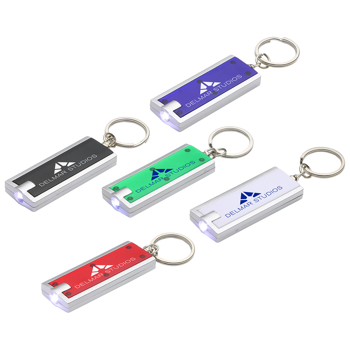 Simple Touch LED Keychain, WLT-ST11 - 1 Colour Imprint