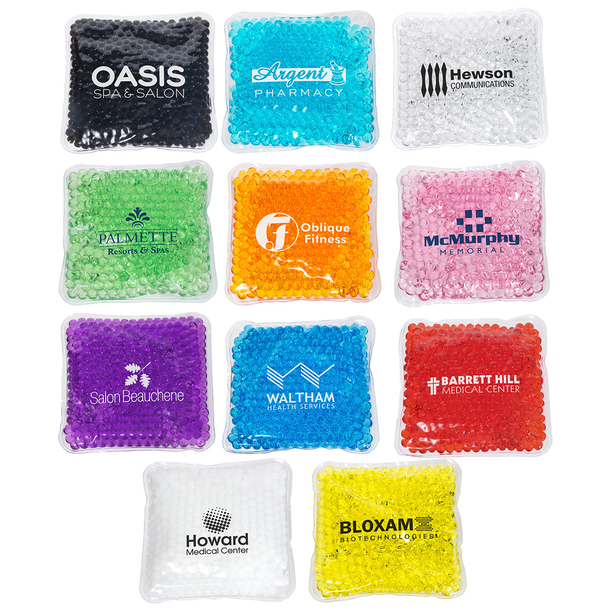Square Aqua Pearls(TM) Hot/Cold Pack, WHF-SQ15, 1 Colour Imprint
