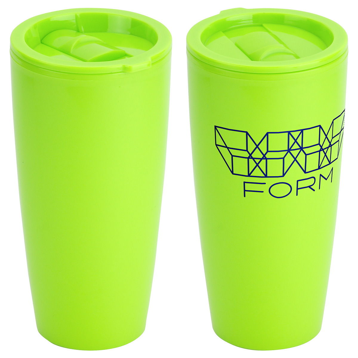 Omega 25oz Double Wall Plastic Tumbler, DTM-OM17 - 1 Colour Imprint
