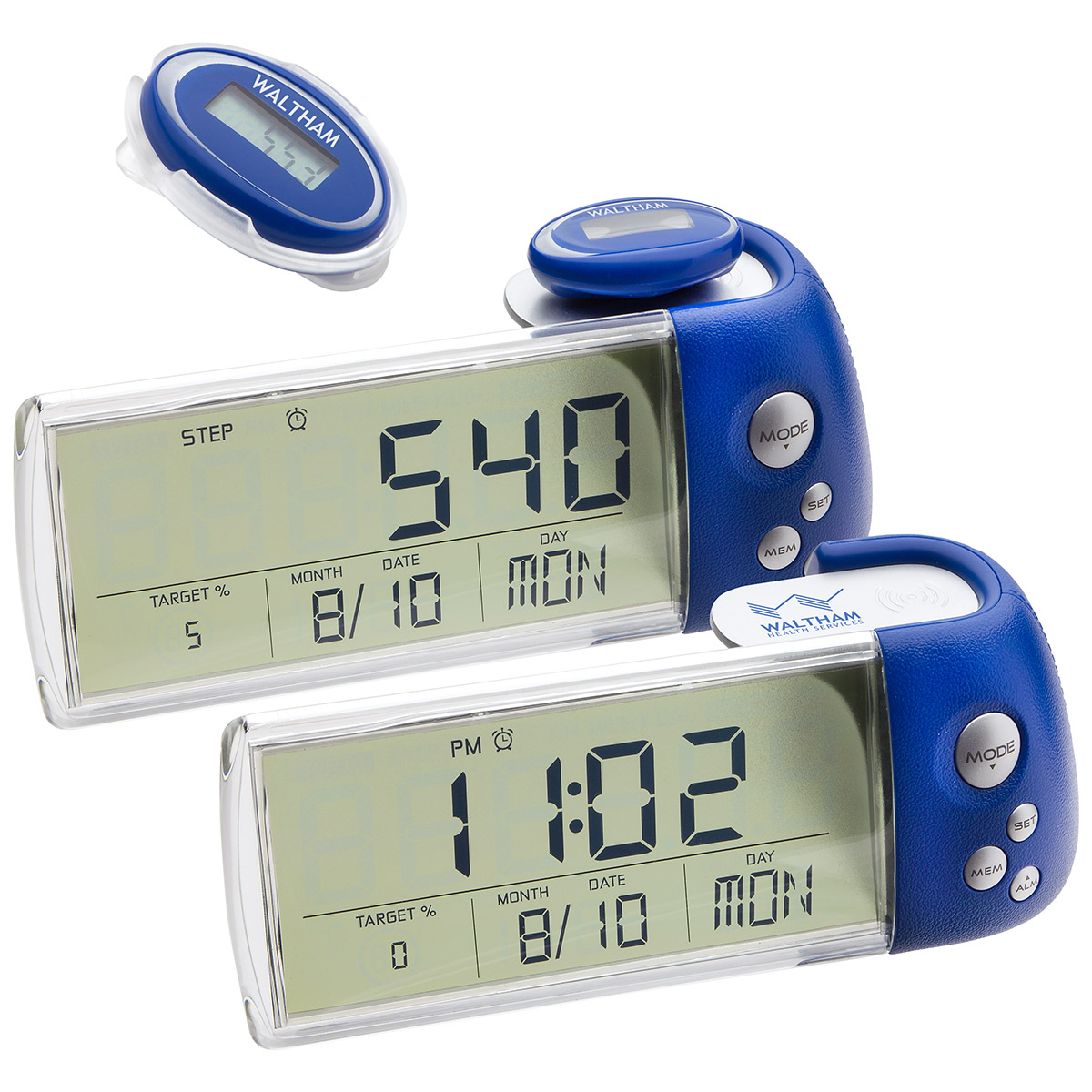 3D Multifunction Pedometer with Docking Station, WHF-PD15, 1 Colour Imprint