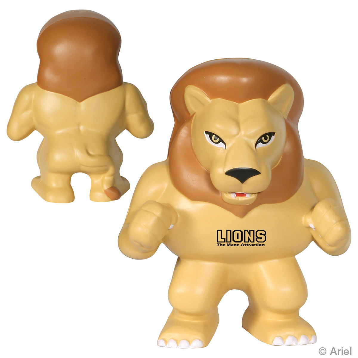 Lion Mascot Stress Reliever, LMT-LN06, 1 Colour Imprint