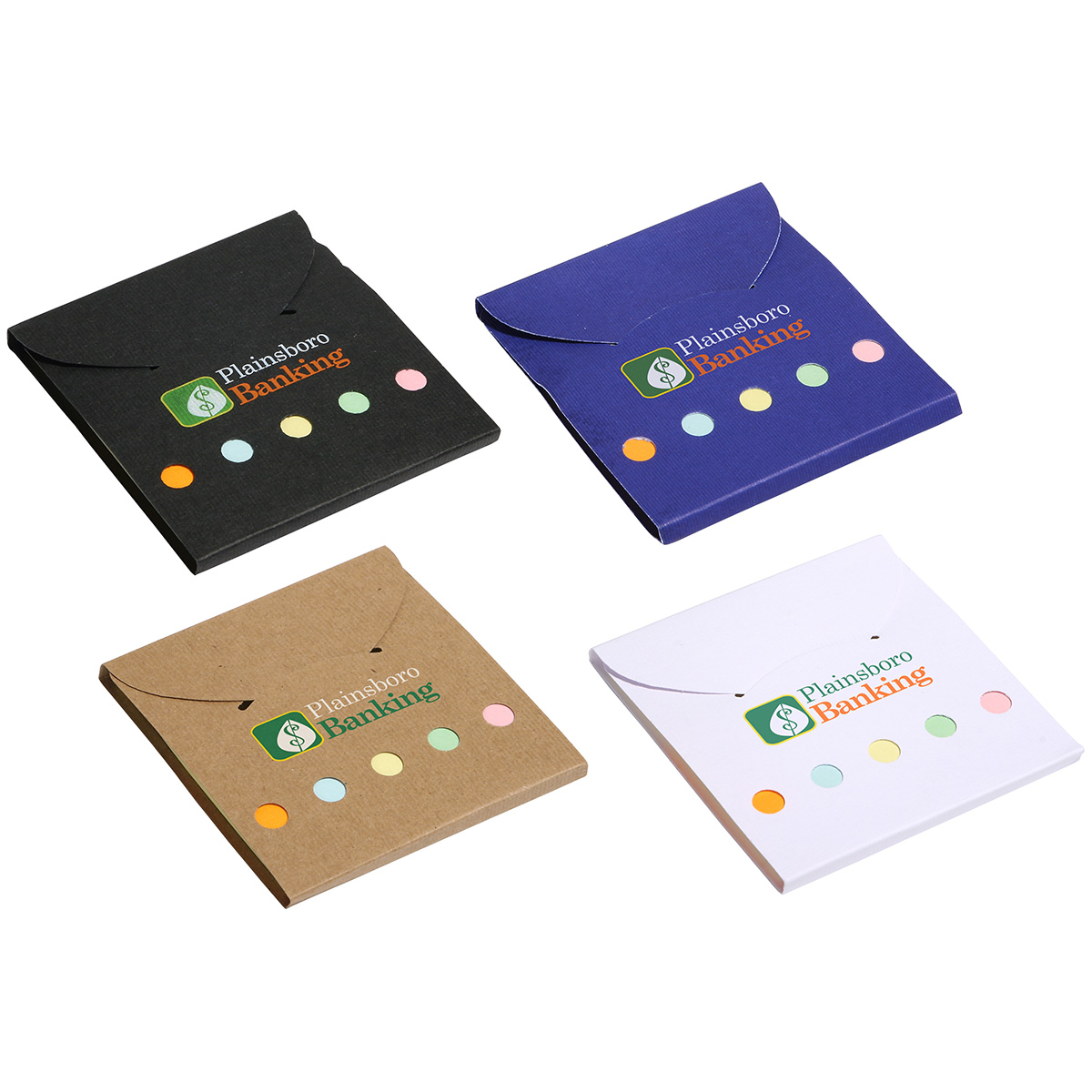 Square Deal Sticky Note Wallet, WOF-SQ10 - 1 Colour Imprint