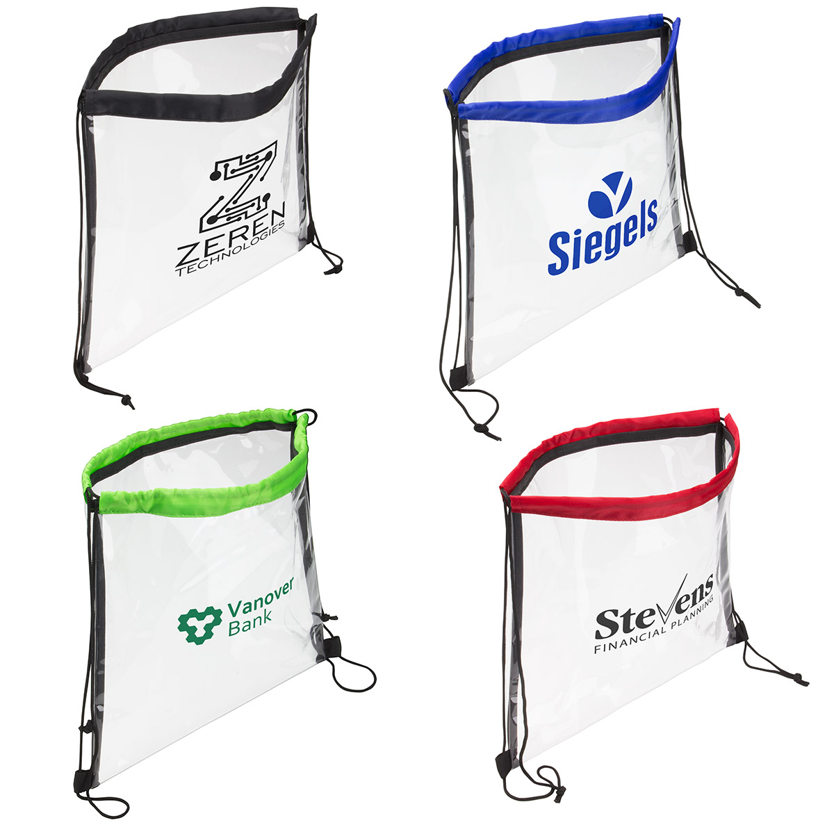 Clear Bag With Drawstring, WBA-CB14 - 1 Colour Imprint