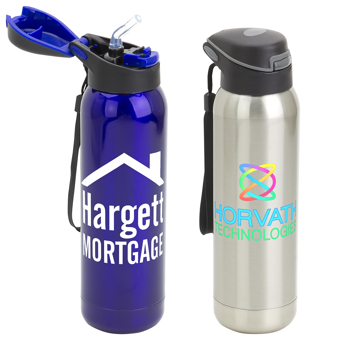 Stratford 17oz Pop-Top Vacuum Insulated Stainless Steel Bottle, DBT-ST17 - 1 Colour Imprint