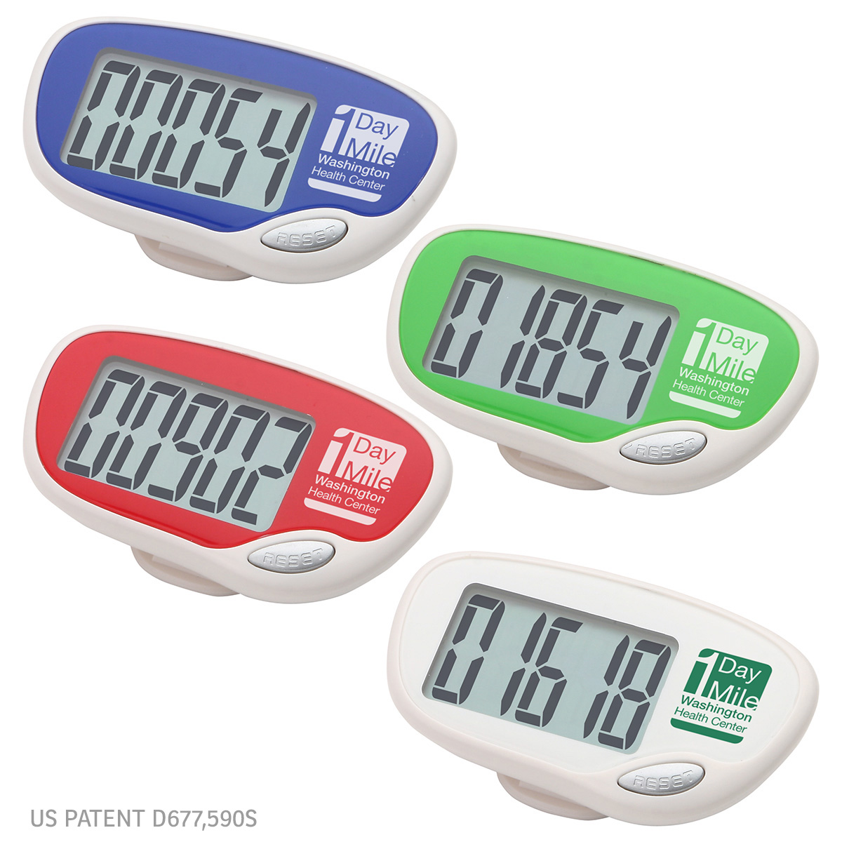 Easy Read Large Screen Pedometer, WHF-ER11, 1 Colour Imprint