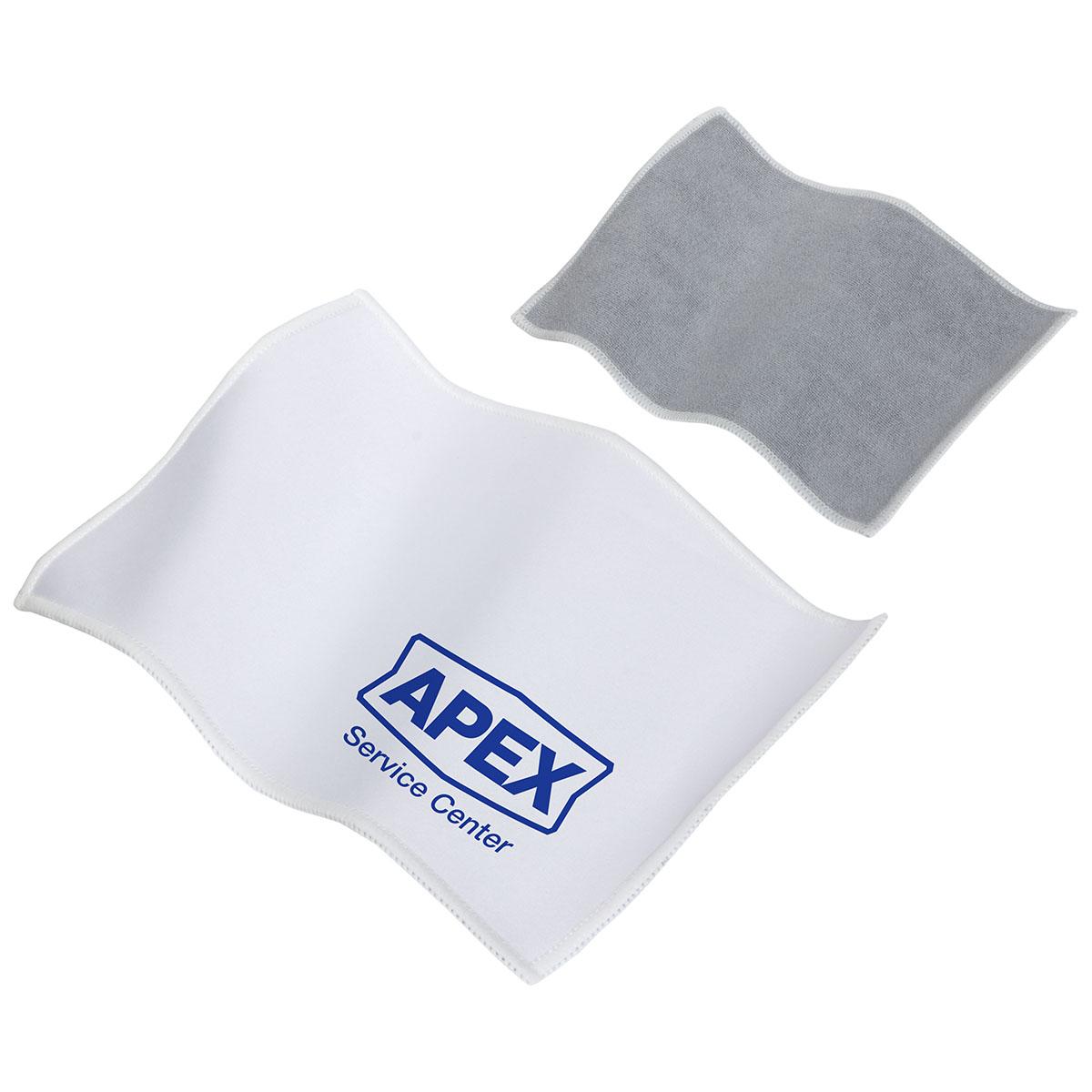 Quick Clean Dual Sided Microfiber Cloth, WPC-QC13 - 1 Colour Imprint