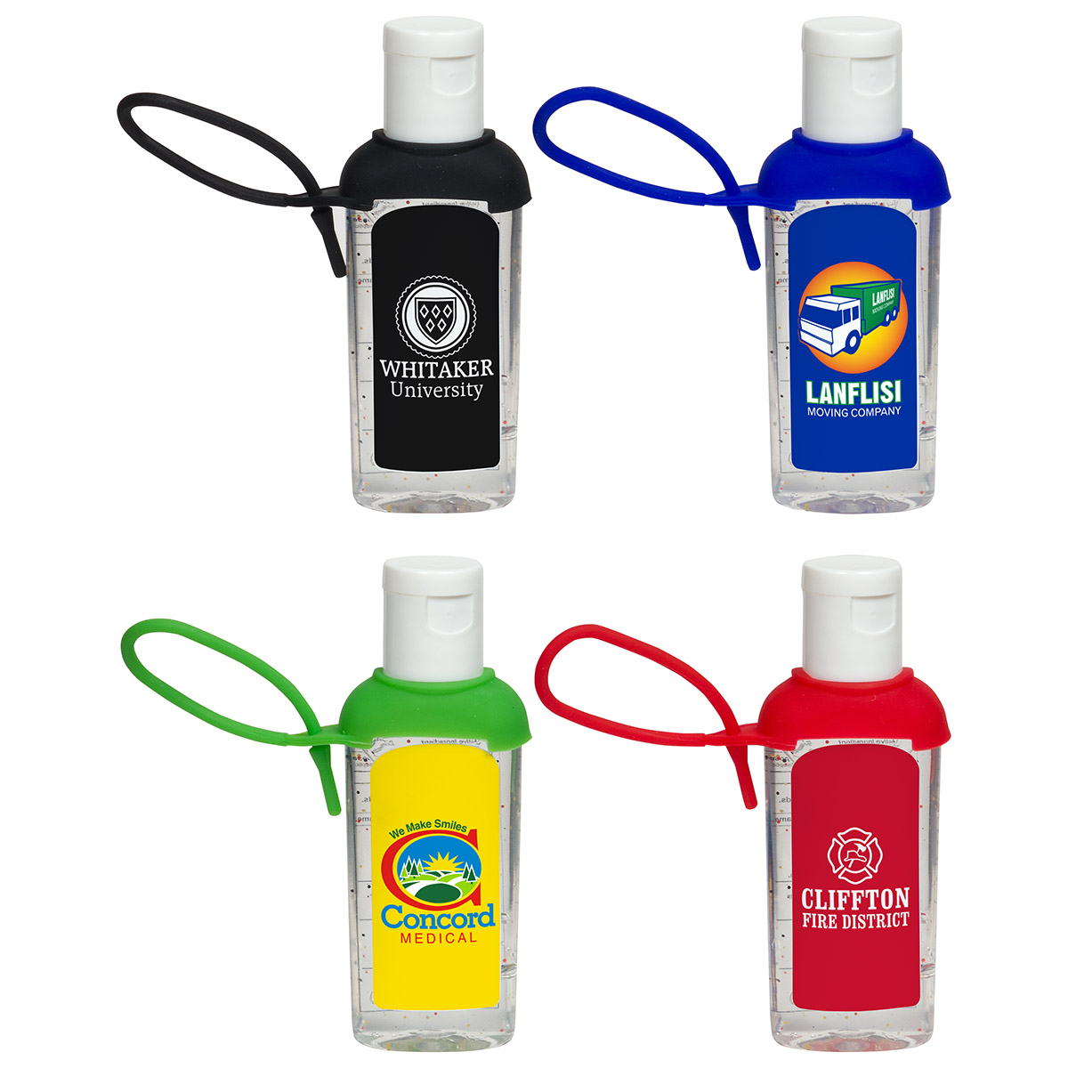 2 Oz. Caddy Strap Moisture Bead Hand Sanitizer, WSA-CT16 - 1 Colour Imprint