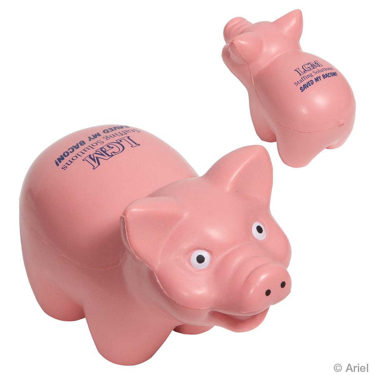 Pig Stress Reliever, LAF-PG12, 1 Colour Imprint