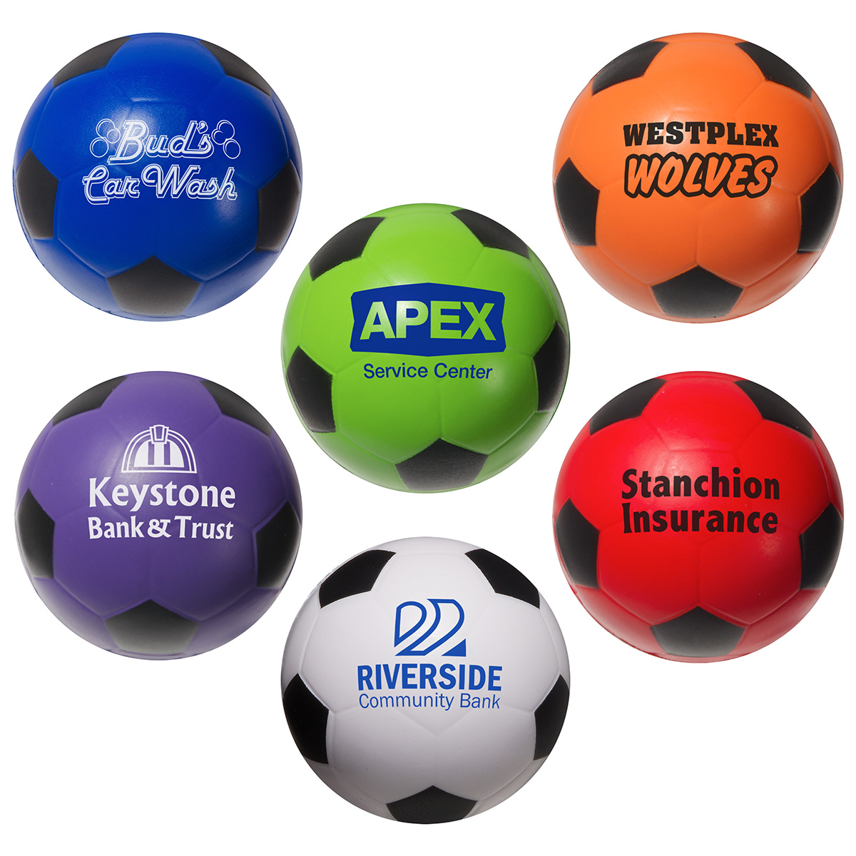 Soccer Ball Stress Reliever, LSP-SC06 - 1 Colour Imprint