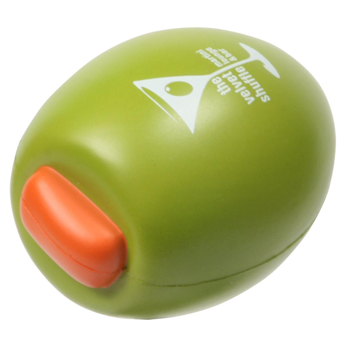 Olive Stress Reliever, LFR-LV08 - 1 Colour Imprint