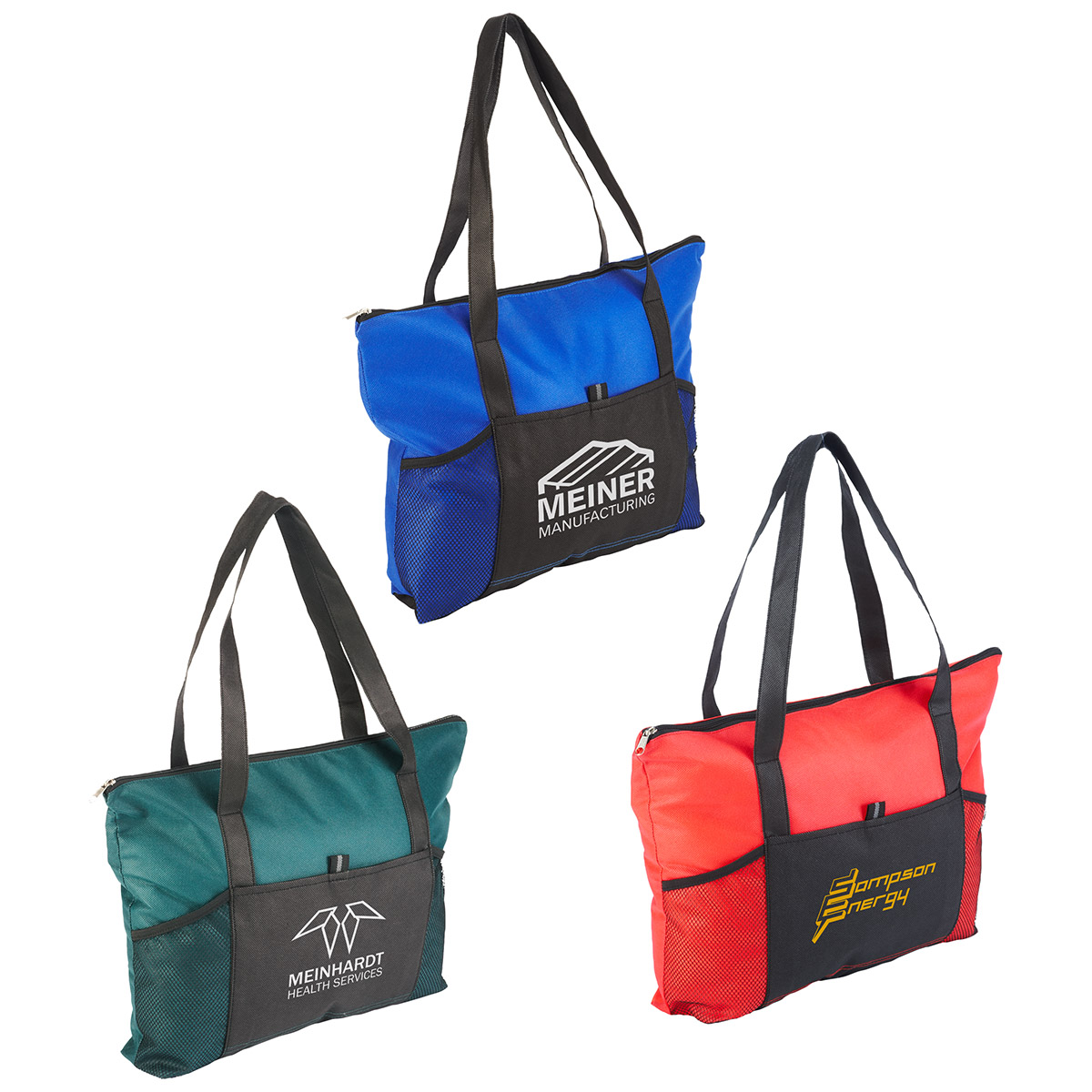 Feather Flight Zippered Tote Bag, WBA-FF10, 1 Colour Imprint