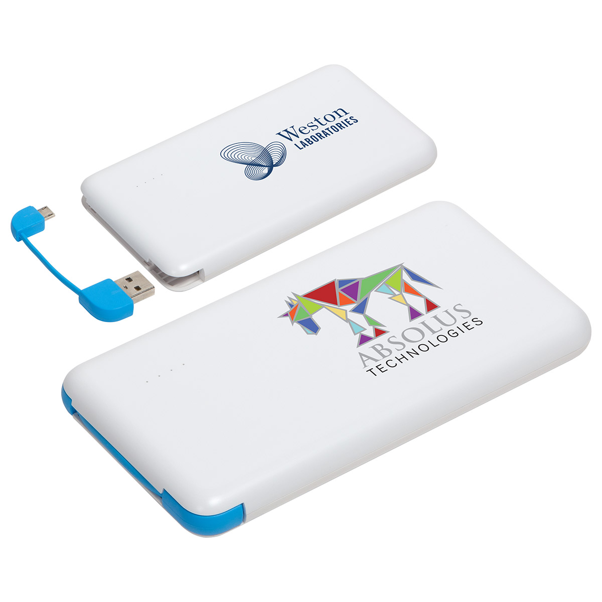 Econo Cable 8000mAh Power Bank, EPB-80F5 - 1 Colour Imprint