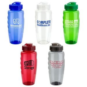 Relay 30 oz PET Eco-Polyclear™ Bottle with Super Sipper Lid