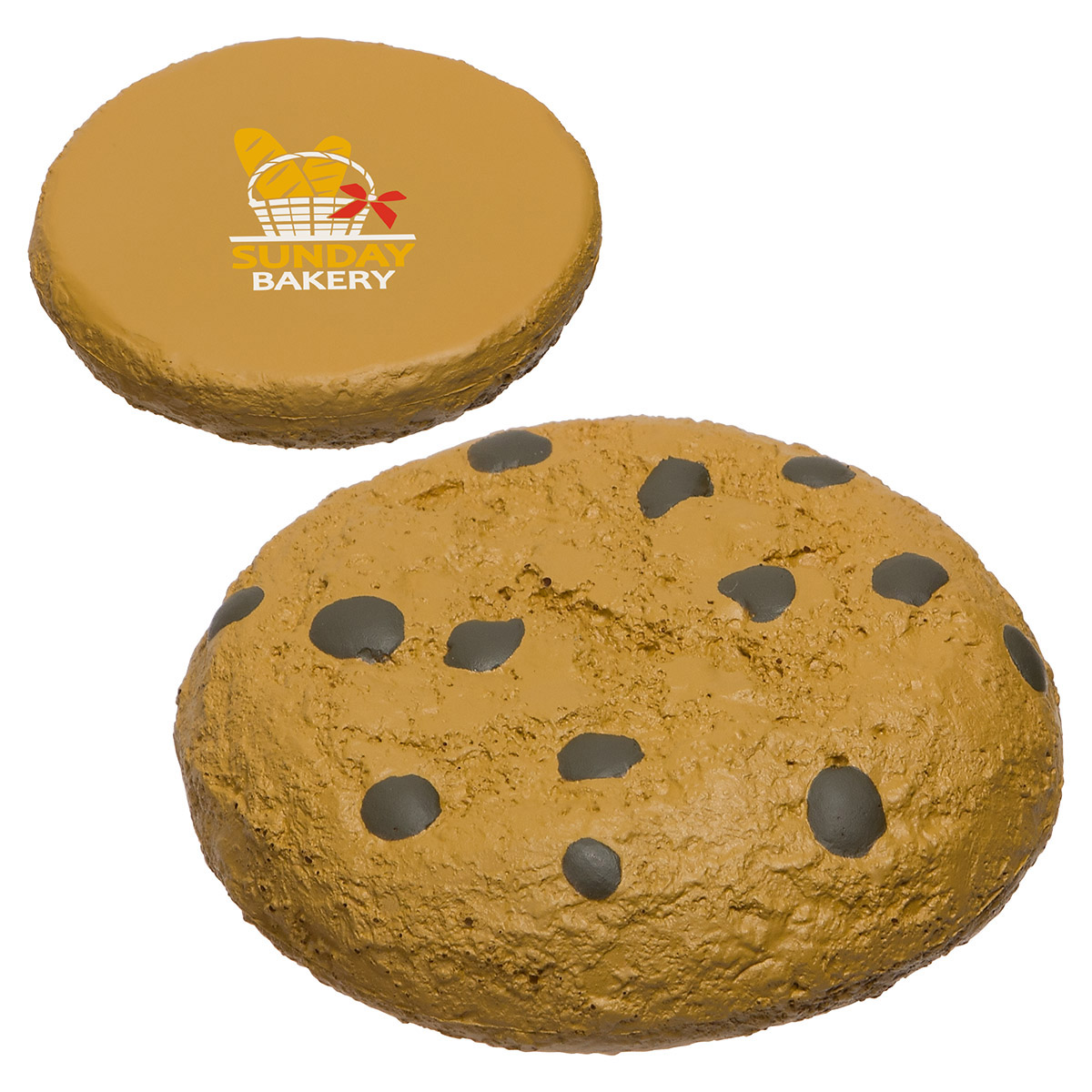Chocolate Chip Cookie Stress Reliever, LFD-CH17, 1 Colour Imprint