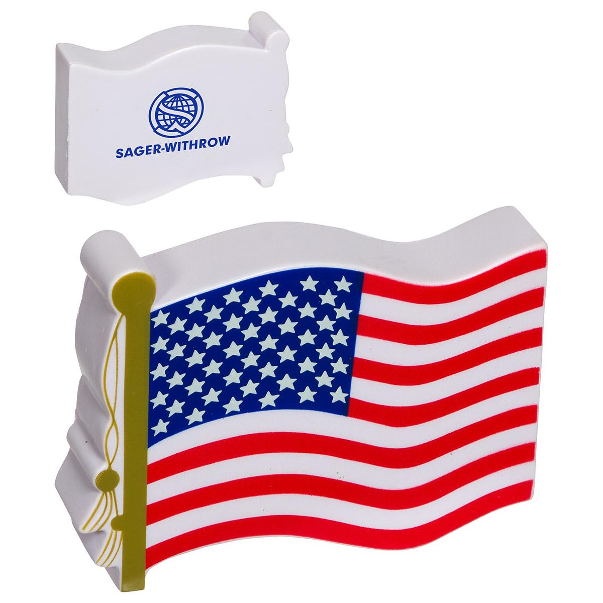 US Flag Stress Reliever, LPA-UF28 - 1 Colour Imprint