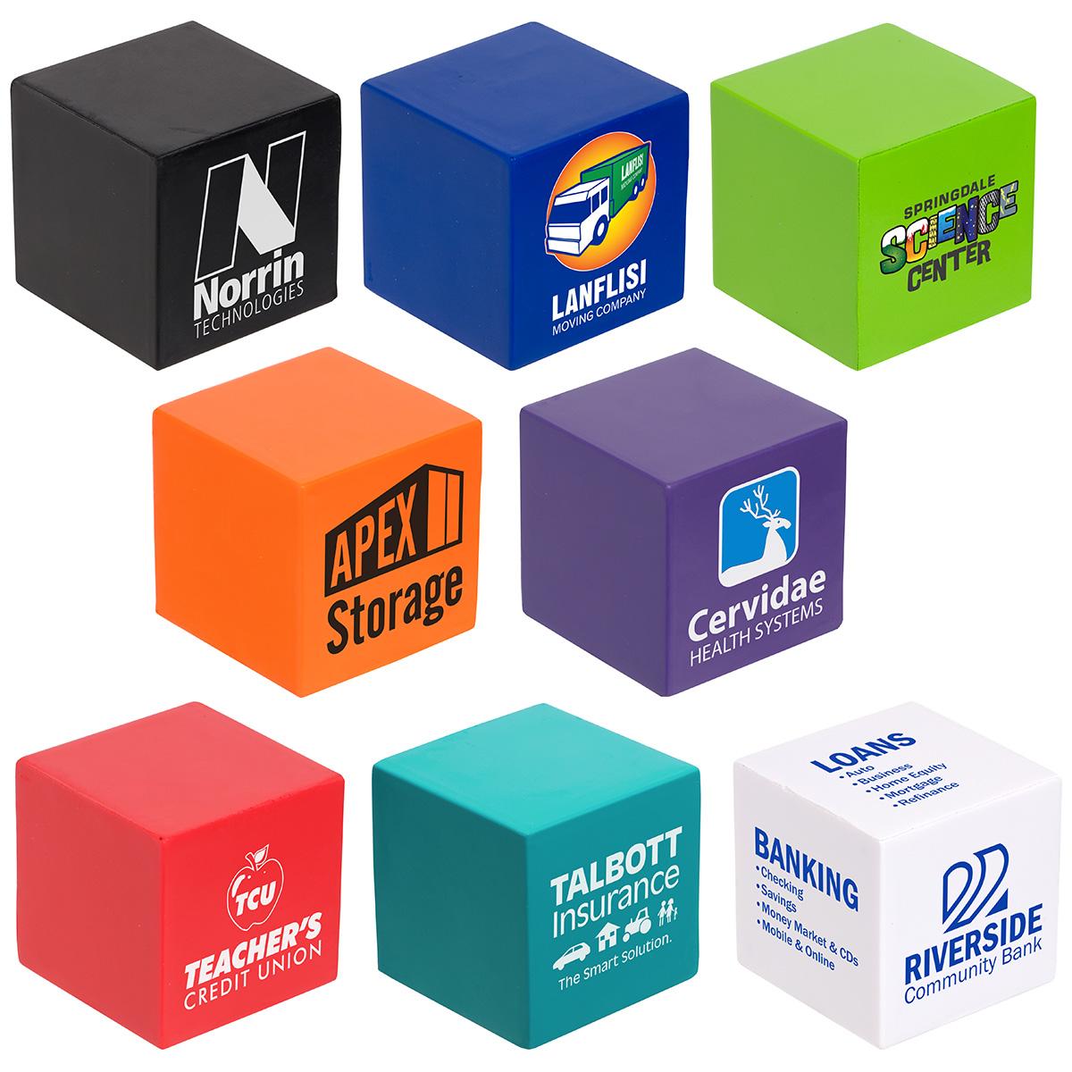 Cube Stress Reliever, LGS-CU08, 1 Colour Imprint