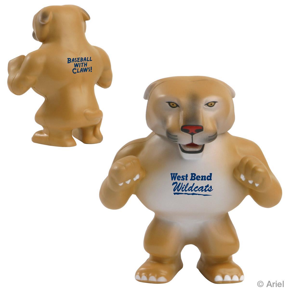 Wildcat/ Cougar Mascot Stress Reliever, LMT-WC07 - 1 Colour Imprint